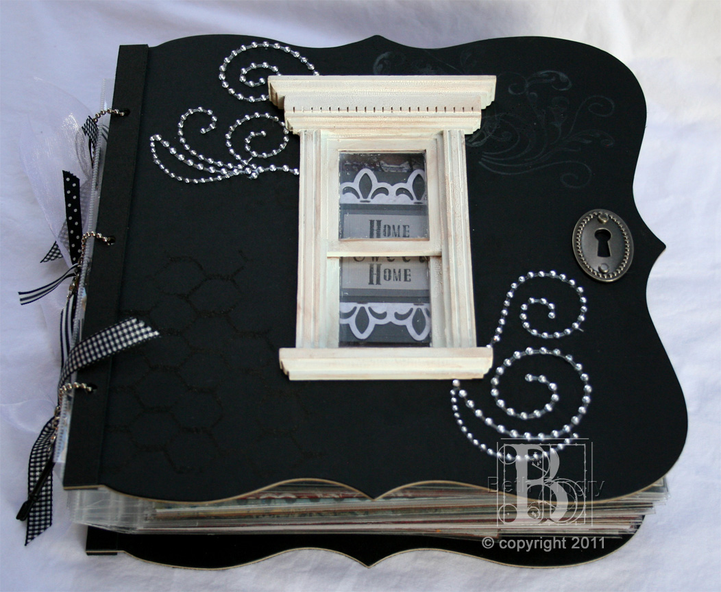 How to make scrapbook for husband - Beth Pingry House Book1