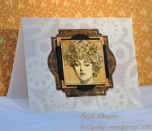Beth Pingry Steampunk card with vellum