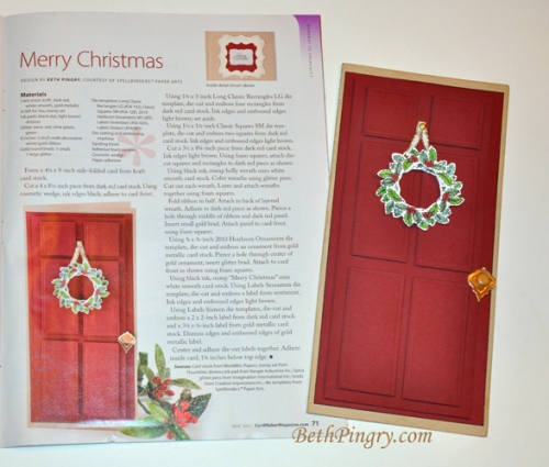 Beth Pingry Red Door Card and Magazine Page