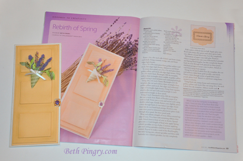 Beth Pingry Yellow Door Card and Magazine