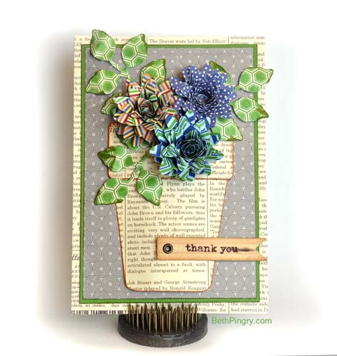 Beth Pingry Flower Pot card