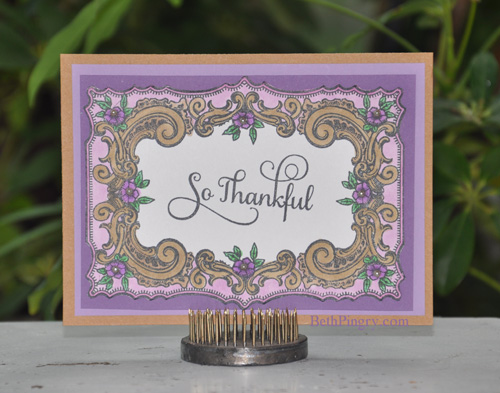 Beth Pingry So Thankful Card