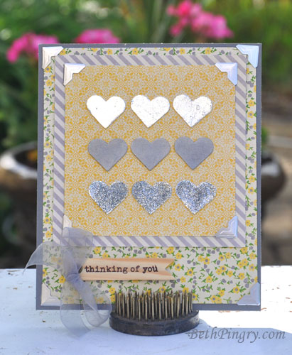 Beth Pingry Silver Hearts Card