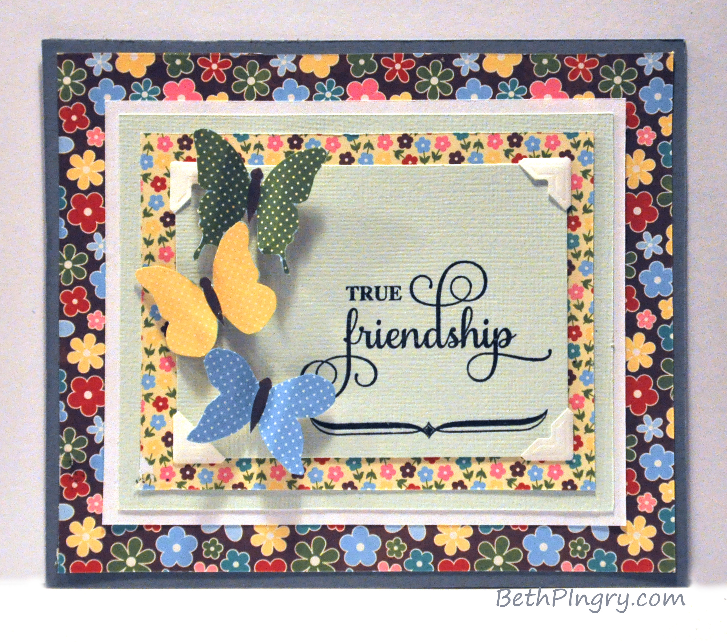 Wonderful How To Make Friendship Cards Part - 10: BethPingry True Friendship Card