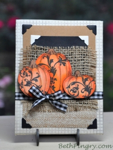 Beth Pingry Pumpkins plaque