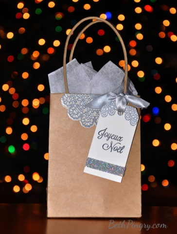 Joyeux Noel gift Bag by Beth Pingry