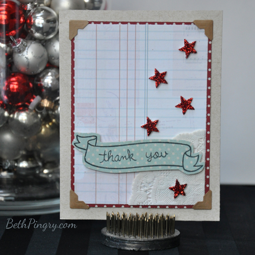 Beth Pingry Lawn Fawn Thank You Card