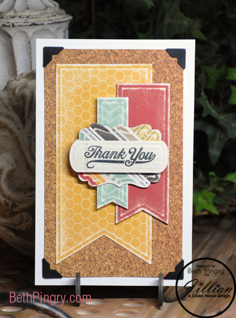 Beth Pingry Thank You Card with Banners