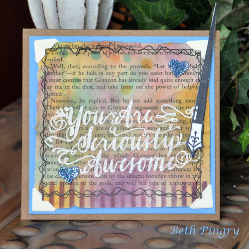 Seriously Awesome card by Beth Pingry
