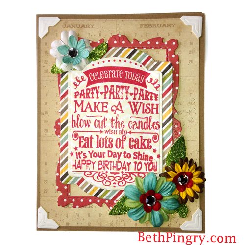 Beth Pingry Layered Birthday Card