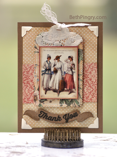 Beth Pingry Thank You Card PCS Magazine Blog Hop