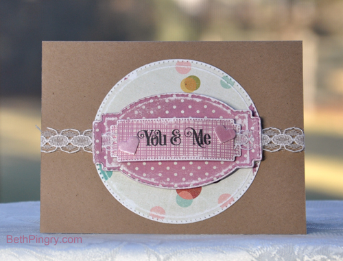 You and Me card by Beth Pingry