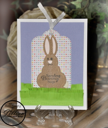 Bunny Hugs card by Beth Pingry