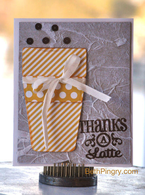 Beth Pingry Thanks a Latte Coffee Card
