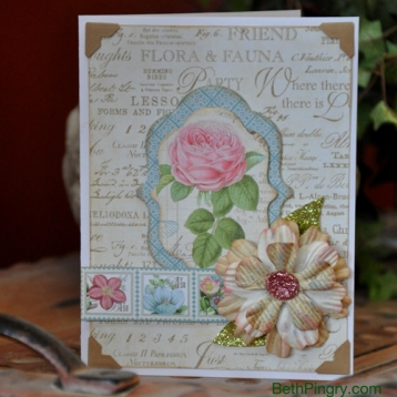 Layered Flower Card by Beth Pingry