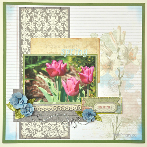 Beth Pingry - Spring Flower Layout