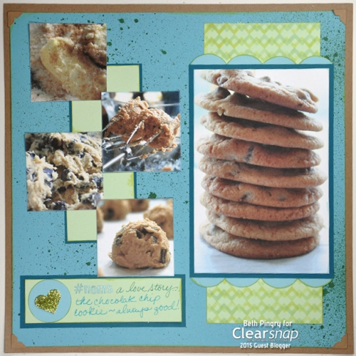 Cookies, a love story layout, Beth Pingry