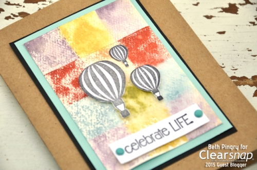 Colorblocked Card by Beth Pingry for Clearsnap