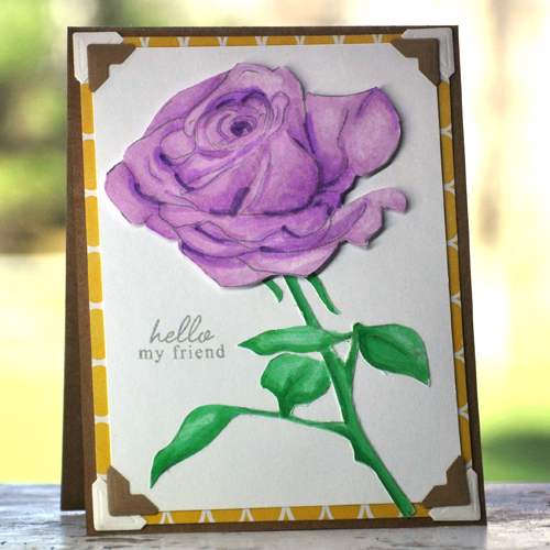 Rose Card by Beth Pingry for Scrapbook Adhesives by 3L and Altenew Blog Hop