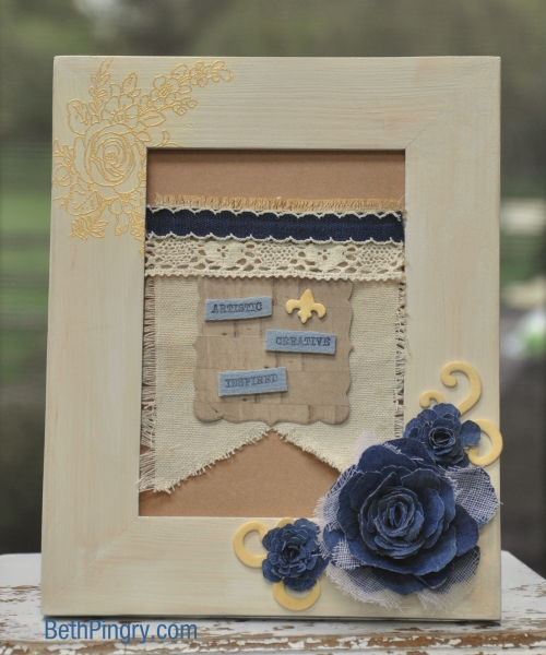 Altered Frame by Beth Pingry for Donna Salazar Blog Hop
