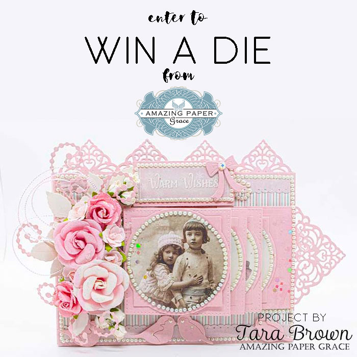 Win a die on Instagram - Christmas Cascade Blog Hop for Amazing Paper Grace