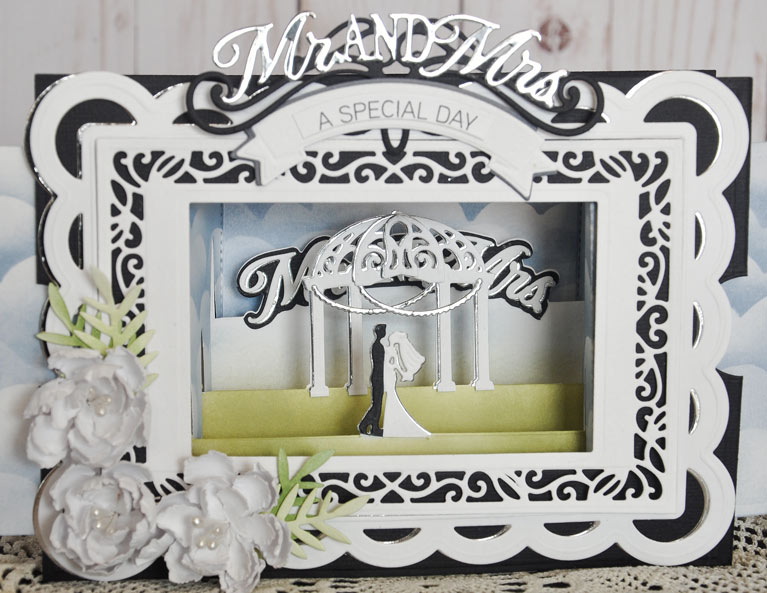 Make A Scene Wedding Card by Beth Pingry for Amazing Paper Grace for Spellbinders